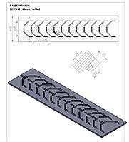 Шевронная конвейерная лента KALE C25P550