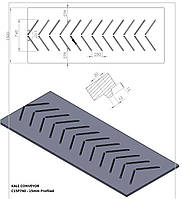 Шевронная конвейерная лента KALE C15P740