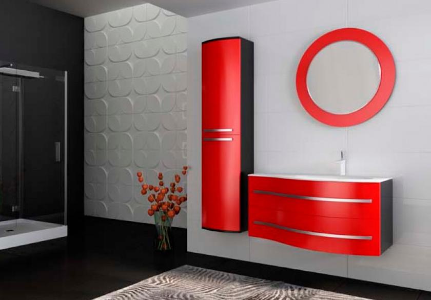 Пенал для ванной комнаты BOTTICELLI Vanessa VnР-190-red