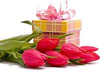 Картинка вафельная А4 Тюльпаны