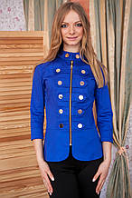 Пиджак женский Гусарик №1 стрейч - коттон (синий)