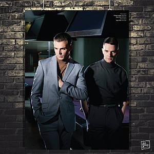 Постер Hurts, Хатчкрафт Тео, Адам Андерсон. Размер 60x45см (A2). Глянцевая бумага