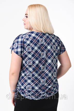 Блуза жіноча Японка КА-001 (синій), фото 2