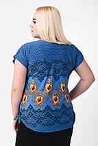 Блуза женская Японка КА-006 (синий), фото 2