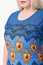 Блуза женская Японка КА-006 (синий), фото 3