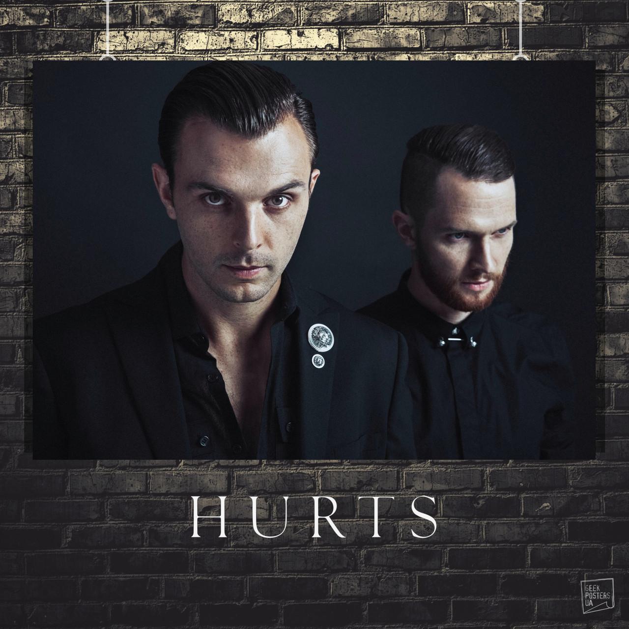 Постер Hurts, Хатчкрафт Тео, Адам Андерсон. Размер 60x42см (A2). Глянцевая бумага