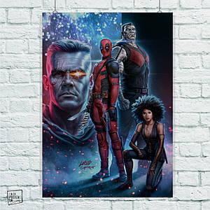 Постер Дэдпул 2, Deadpool 2. Размер 60x42см (A2). Глянцевая бумага