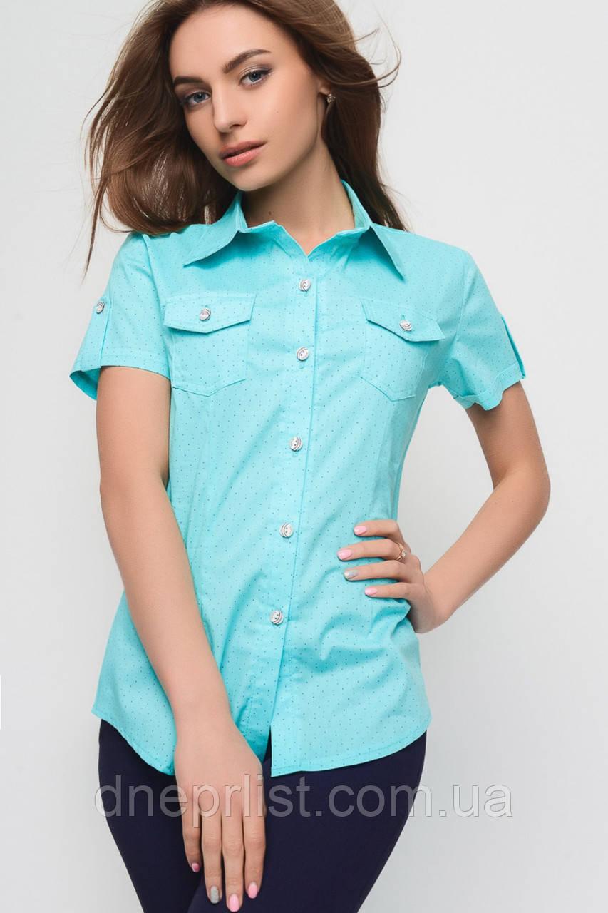 Рубашка женская №9 (голубой)