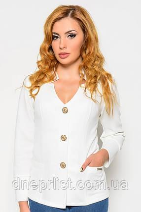 Пиджак женский №25 (белый), фото 2