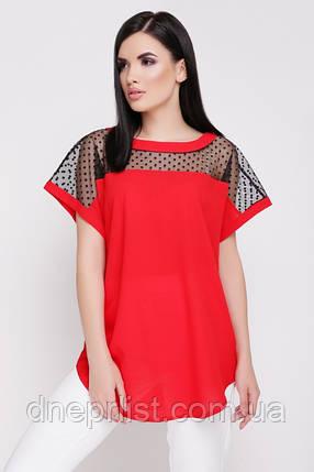 """Блуза жіноча """"Verona"""" (червоний), фото 2"""