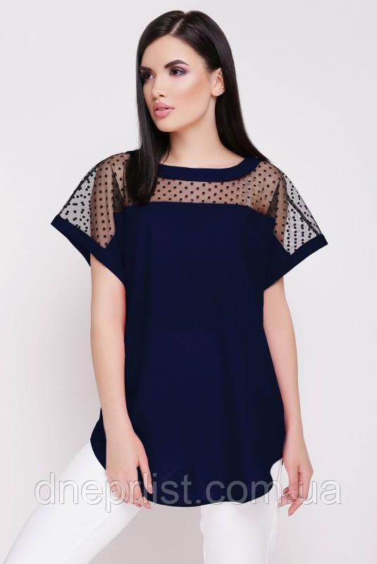 """Блуза жіноча """"Verona"""" (темно-синій)"""