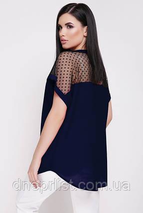 "Блуза жіноча ""Verona"" (темно-синій), фото 2"
