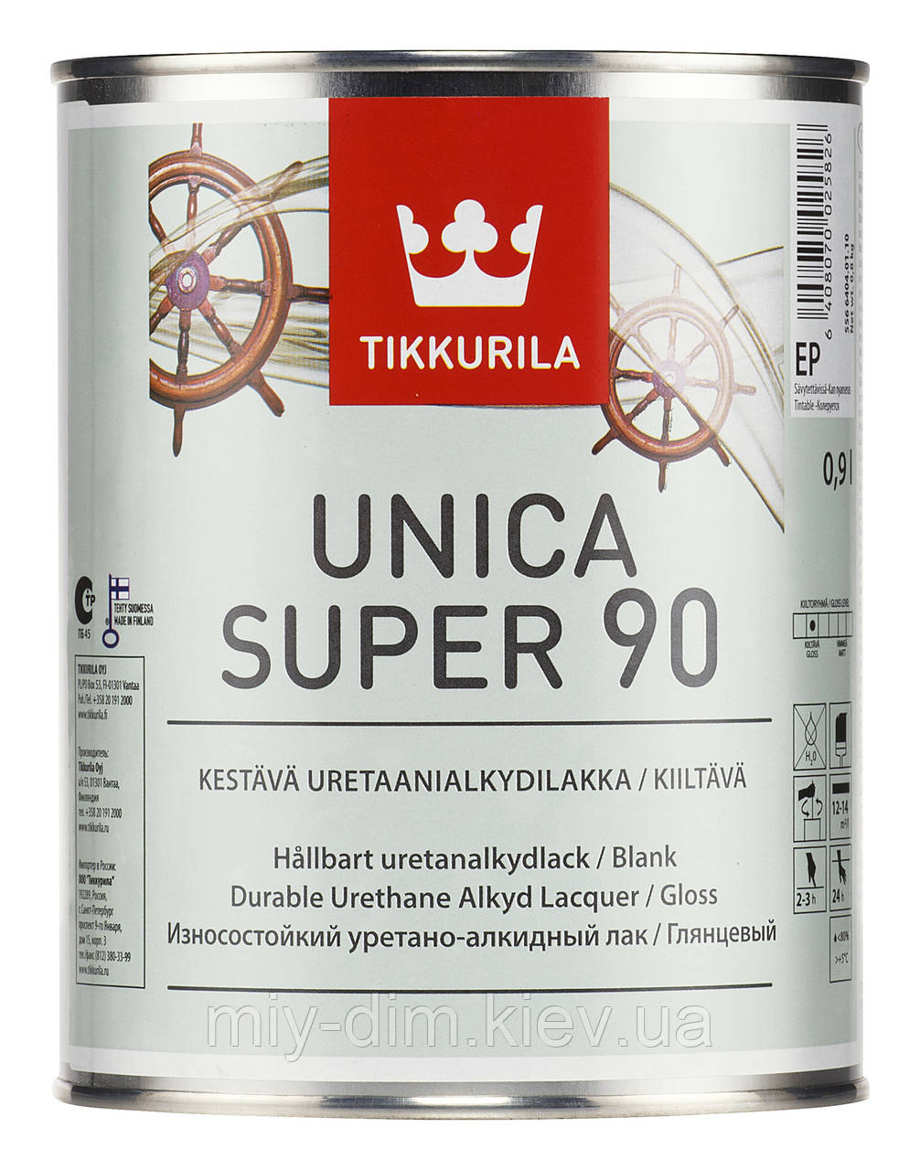 Лак Уніка Супер глянець, 2,7л, паркетний, для човнів / Tikkurila