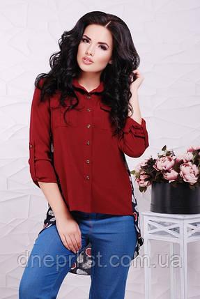 """Рубашка женское """"Meloni"""" (тёмно-бордовый), фото 2"""