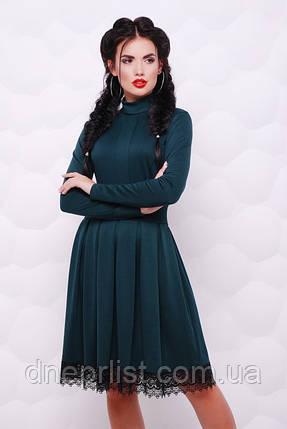 """Платье женское """"Трикси"""" (тёмно-зелёный), фото 2"""