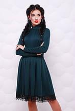 """Платье женское """"Трикси"""" (тёмно-зелёный)"""