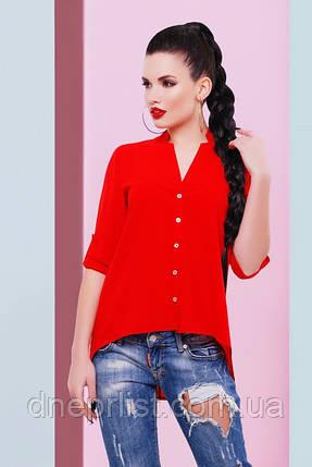 """Блуза жіноча """"Michelle"""" (червоний), р. 42-48, фото 2"""