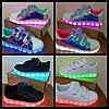 33р (21,5см) Светящиеся кроссовки LED superstar детские на липучке, фото 4