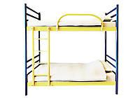 Азимут Двухъярусная металлическая кровать с ламелями 80x190 Азимут