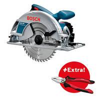 Дисковая пила Bosch GKS 190 + плоскогубцы Wiha (0615990K33)