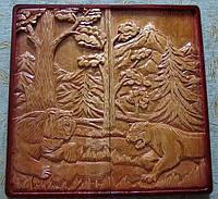 Нарды сувенирные,резьба по дереву, фото 1