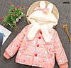 """Демисезонная куртка """"Кролики"""" для девочки. 100 см"""