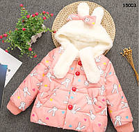 """Демисезонная куртка """"Кролики"""" для девочки. 100 см, фото 1"""