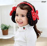 Наушники Minnie Mouse для девочки, регулируются. От 3-х лет