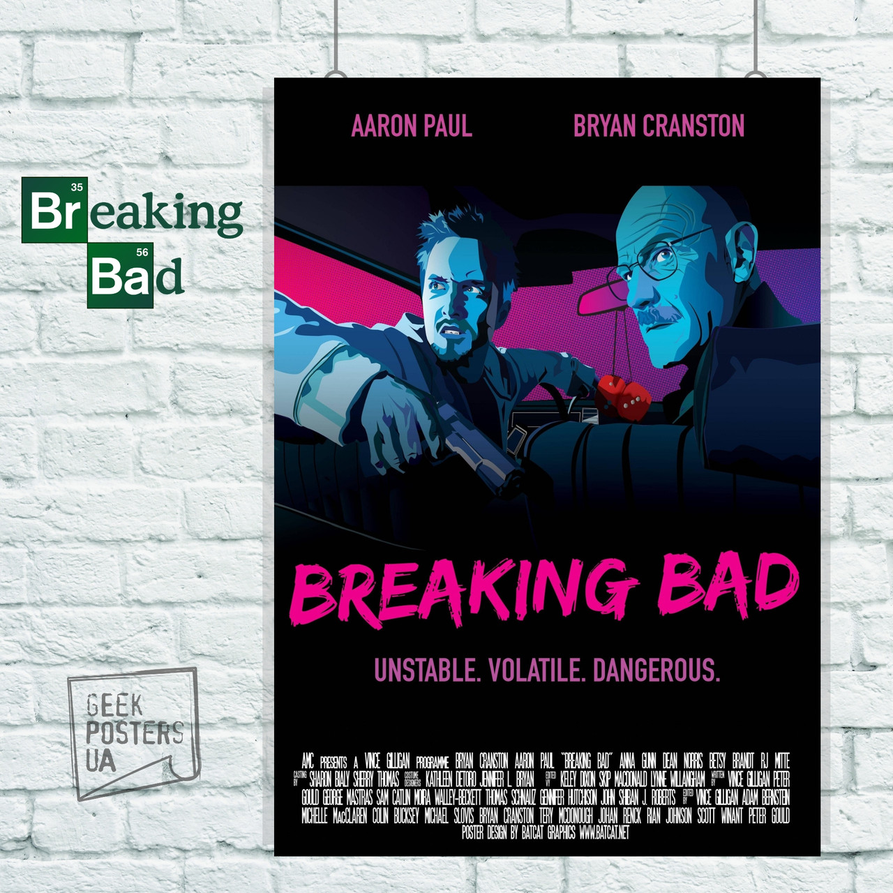 Постер Breaking Bad / Во все тяжкие. Размер 60x42см (A2). Глянцевая бумага