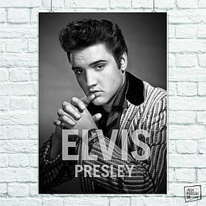 Постер Элвис Пресли, Elvis Presley. Размер 60x42см (A2). Глянцевая бумага