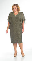 Платье Pretty-148/3 белорусский трикотаж, хаки, 52