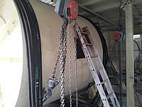 Монтаж металлоконструкций мельницы подготовки шликера