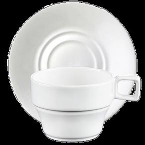 Чашка с блюдцем чай/латте 250 мл, фото 2