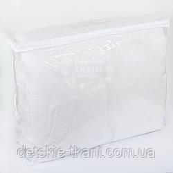 Сумка для упаковки текстиля, с силиконовой ручкой, на молнии, прозрачная,  60*50*25 см
