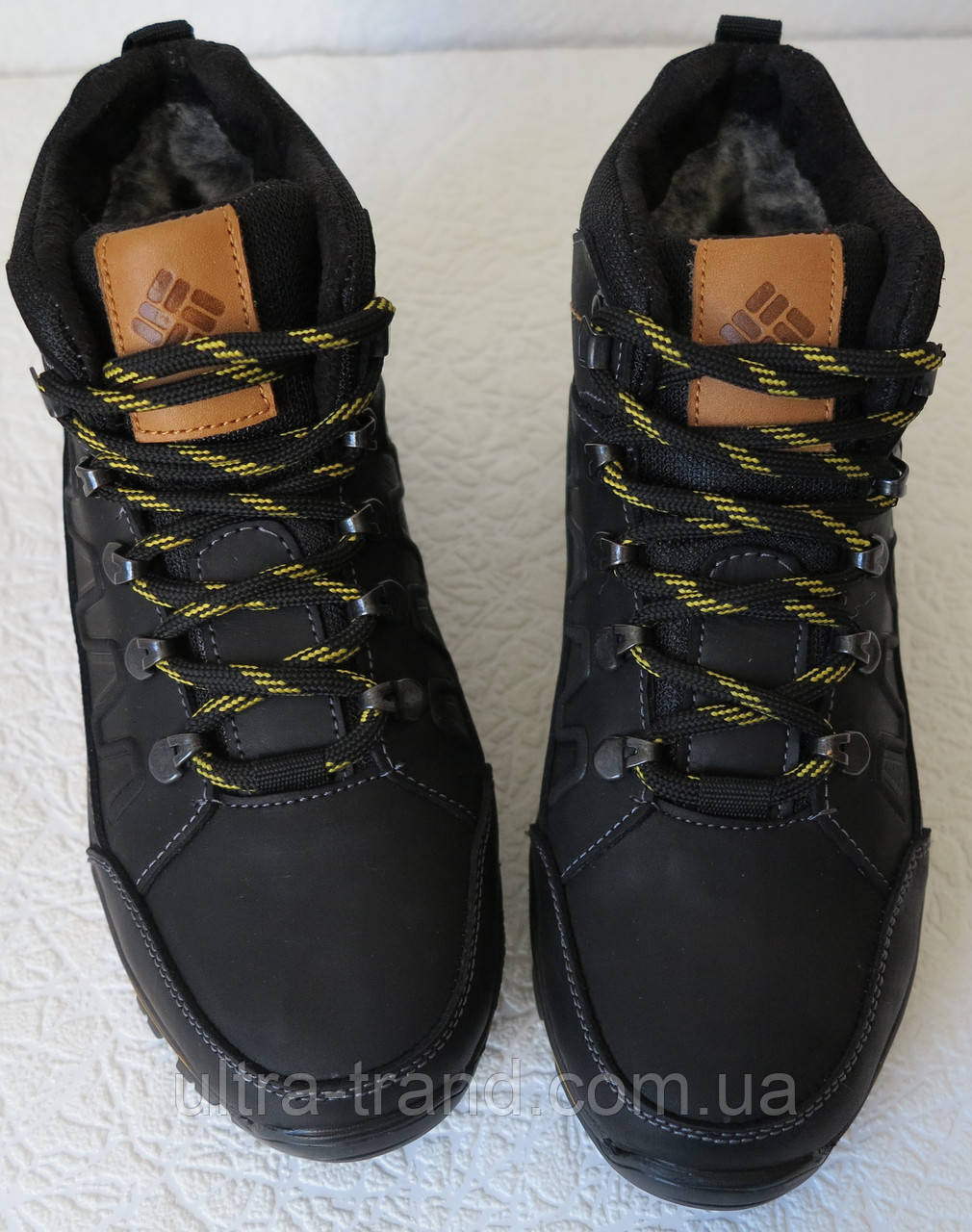 d9f6af418ceb ... Columbia детские подростковые кожаные зимние ботинки с мехом реплика  Коламбия синие, фото 7
