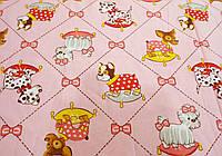"Ткань для пошива детского постельного белья бязь премиум 1,5 м Пёсики / ""Чарівна Ніч"", фото 1"