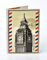 """Обложка на паспорт, материал экокожа, """"Англия"""""""