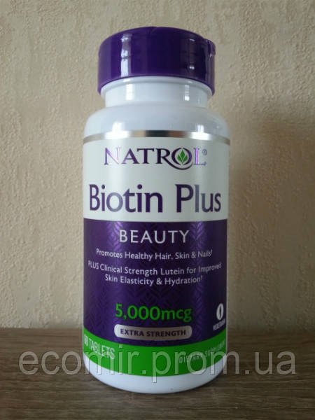 «Биотин+», Natrol (5,000 мкг/ 60 табл)