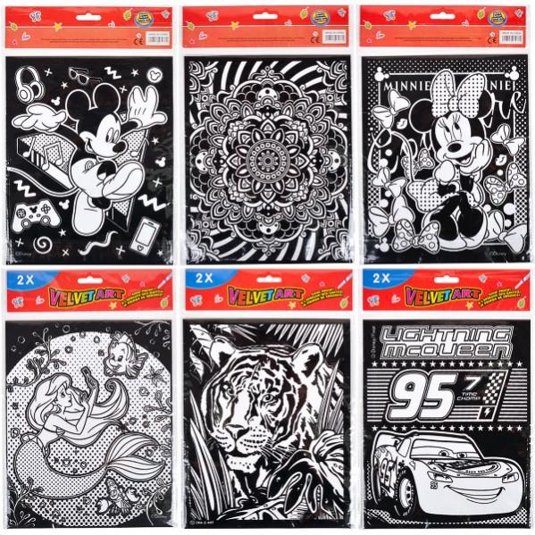 Бархатная раскраска В5 2шт. в наборе: продажа, цена в ...