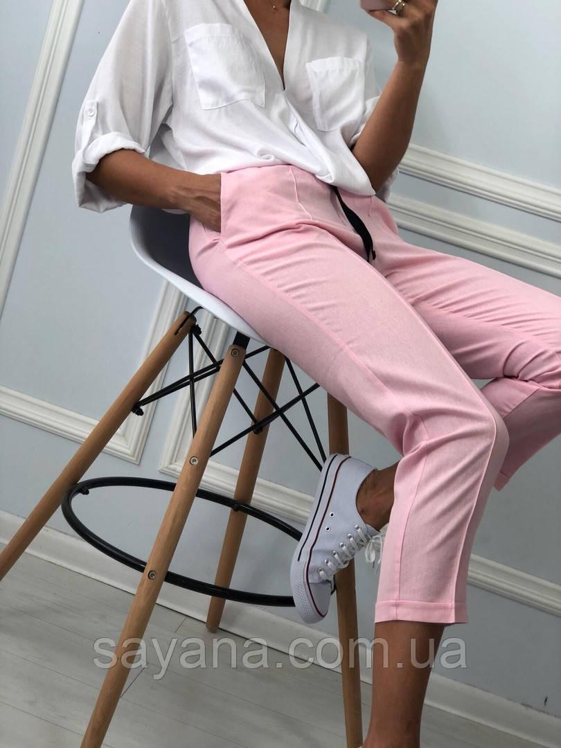 Женские льняные штаны в расцветках. КС-3-0918