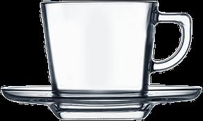 Чашка квадратная с блюдцем 215 мл, фото 2