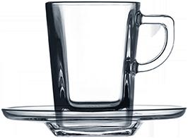Чашка квадратная с блюдцем 70 мл, фото 2