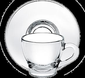 Чашка с толстым дном с блюдцем 80 мл, фото 2
