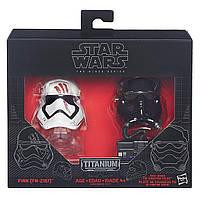 """Мини-шлемы пилот первого ордена и штурмовик Финн """"Звездные войны"""" - Star Wars, Black Series, Hasbro , фото 1"""