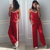 Женский домашний шелковый костюм в расцветках. КС-5-0918, фото 3