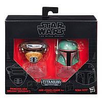 """Мини-шлемы Боба Фетт и принцесса Лея """"Звездные войны"""" - Star Wars, Black Series, Hasbro , фото 1"""