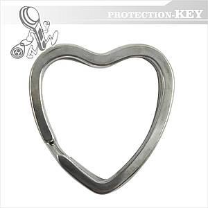 Кольцо для ключей заводное плоское сердце Ø31
