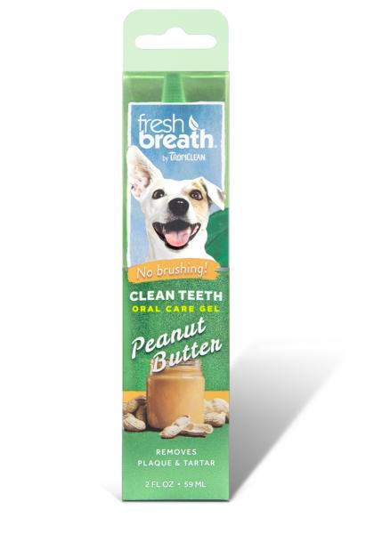 """Гель для чищення зубів у собак TropiСlean """"Арахісове масло"""", 59 мл"""