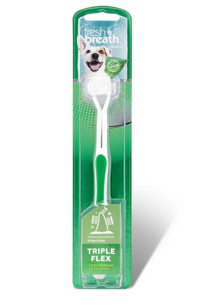 """Зубна щітка TropiСlean для собак """"Tripleflex"""""""