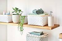 Белая плетеная коробка из бамбукового волокна ZELLER   27x 18x 13,5см (28833)